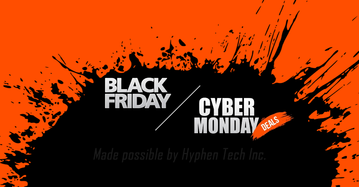 Thanksgiving, Black Friday and Cyber Monday Deal.